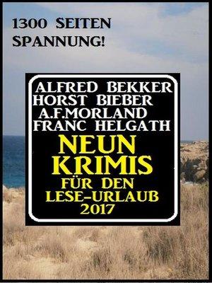 cover image of Neun Krimis für den Lese-Urlaub 2017