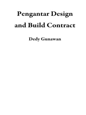 cover image of Pengantar Design and Build Contract