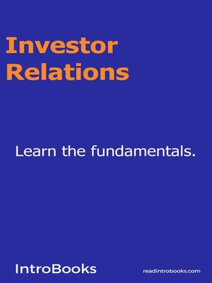 cover image of Investor Relations