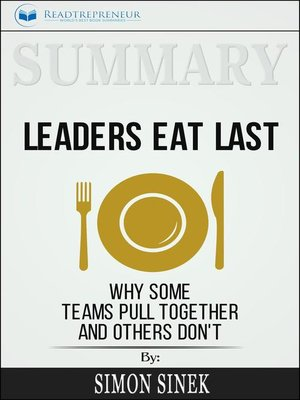 cover image of Summary of Leaders Eat Last