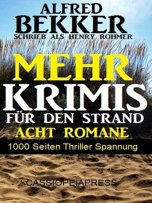 cover image of Mehr Krimis für den Strand--Acht Romane