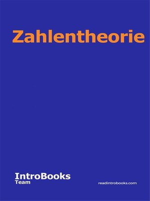 cover image of Zahlentheorie