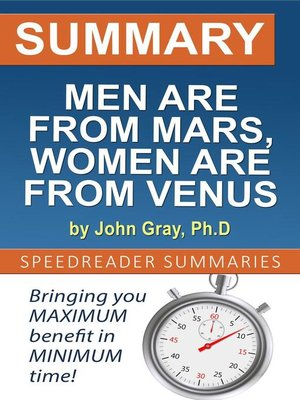 cover image of Summary of Men are from Mars, Women are from Venus by John Gray