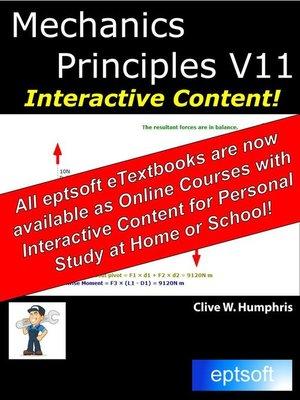 cover image of Mechanics Principles V11