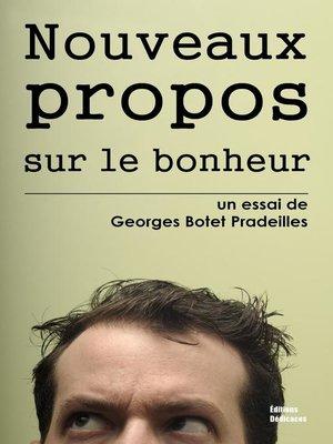 cover image of Nouveaux propos sur le bonheur