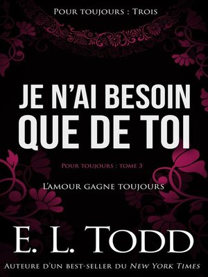 cover image of Je n'ai besoin que de toi
