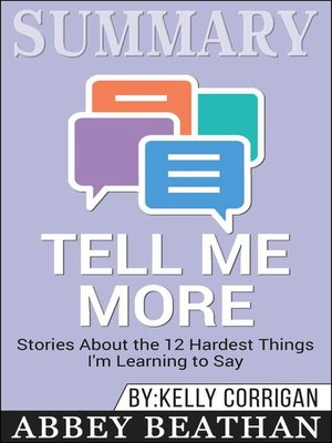 cover image of Summary of Tell Me More