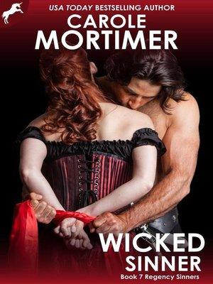 cover image of Wicked Sinner (Regency Sinners 7)