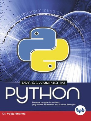 cover image of Programming in Python