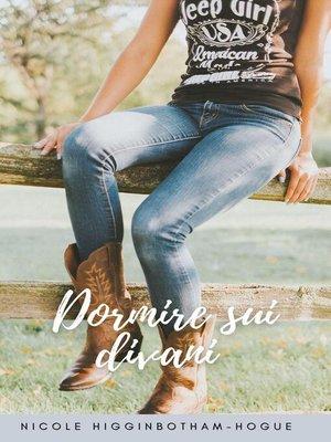 cover image of Dormire sui divani