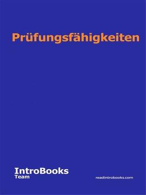 cover image of Prüfungsfähigkeiten