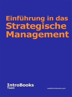 cover image of Einführung in das Strategische Management