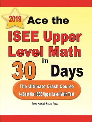 cover image of Ace the ISEE Upper Level Math in 30 Days