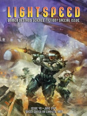 cover image of Lightspeed Magazine, issue 49 (June 2014--Women Destroy Science Fiction! Special Issue)