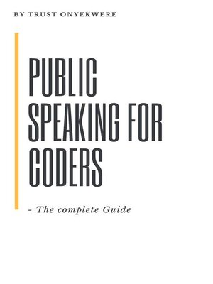 cover image of Public Speaking for Coders