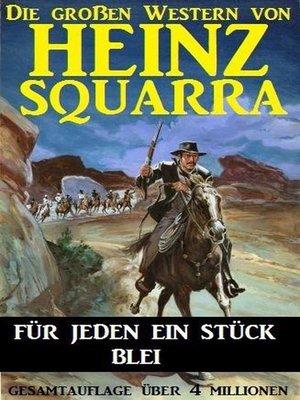 cover image of Für jeden ein Stück Blei