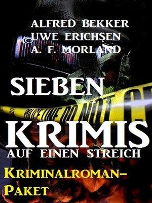 cover image of Sieben Krimis auf einen Streich