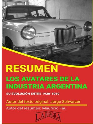 cover image of Resumen de Los Avatares de la Industria Argentina de Jorge Schvarzer