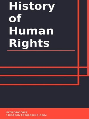 cover image of History of Human Rights