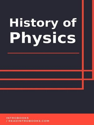 cover image of History of Physics