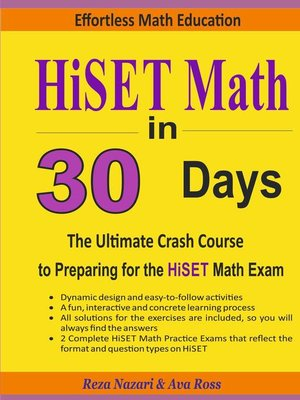 cover image of HiSET Math in 30 Days