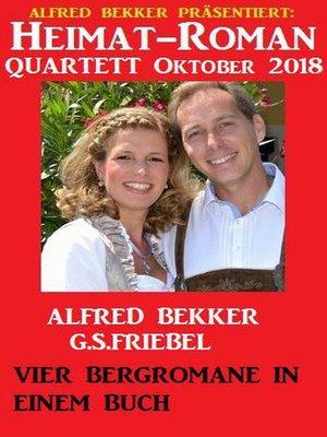 cover image of Heimat-Roman Quartett Oktober 2018