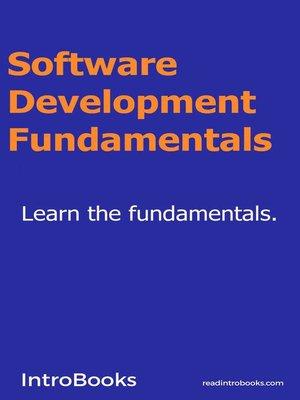 cover image of Software Development Fundamentals