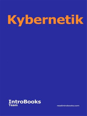 cover image of Kybernetik
