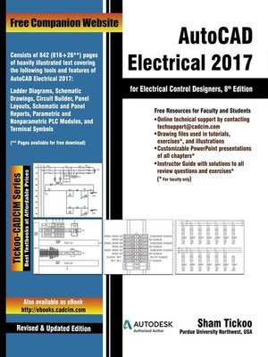 cover image of AutoCAD Electrical 2017 for Electrical Control Designers