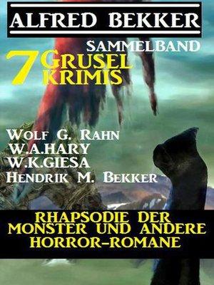 cover image of Sammelband 7 Grusel-Krimis