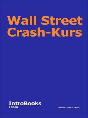 cover image of Wall Street Crash-Kurs