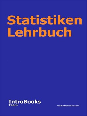 cover image of Statistiken Lehrbuch