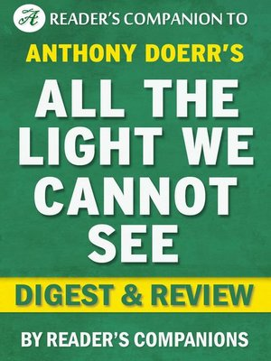 cover image of All the Light We Cannot See by Anthony Doerr