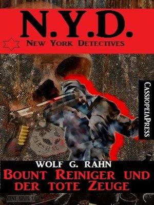 cover image of Bount Reiniger und der tote Zeuge