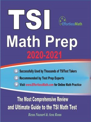cover image of TSI Math Prep 2020-2021