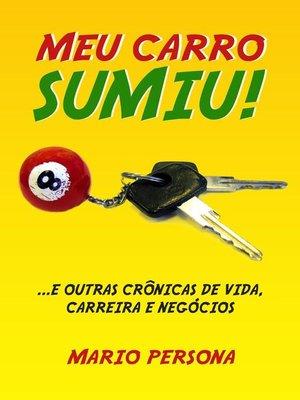 cover image of Meu carro sumiu!