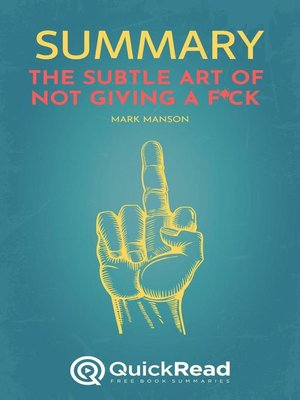 """cover image of Summary of """"The Subtle Art of Not Giving a F*ck"""" by Mark Manson"""
