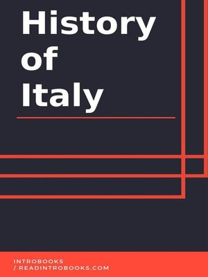 cover image of History of Italy