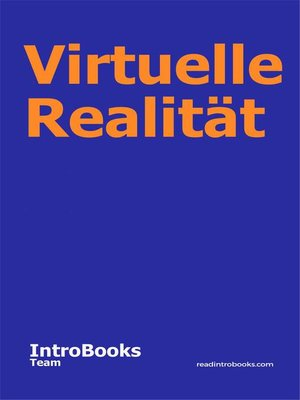 cover image of Virtuelle Realität