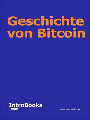 cover image of Geschichte von Bitcoin