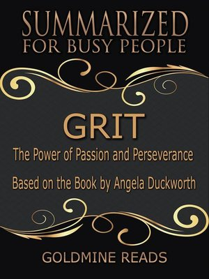 cover image of Grit--Summarized for Busy People