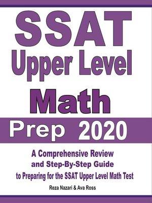 cover image of SSAT Upper Level Math Prep 2020