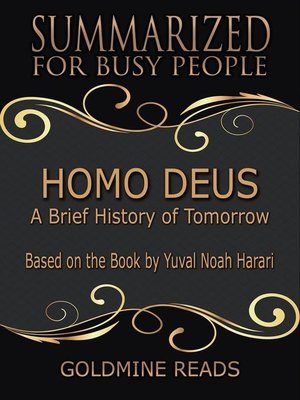 cover image of Homo Deus--Summarized for Busy People