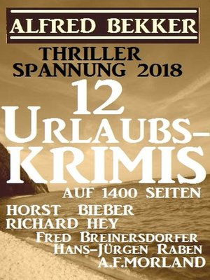 cover image of Thriller Spannung 2018