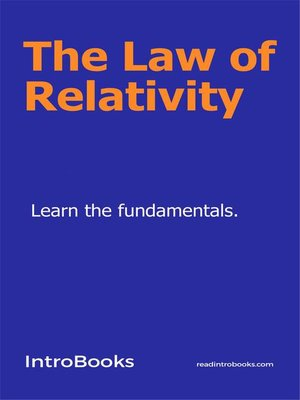 cover image of The Law of Relativity