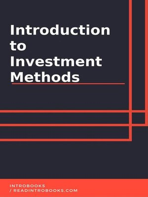 cover image of Introduction to investment methods