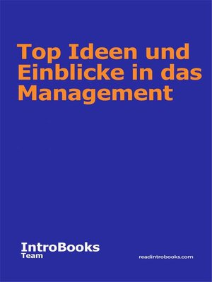 cover image of Top Ideen und Einblicke in das Management