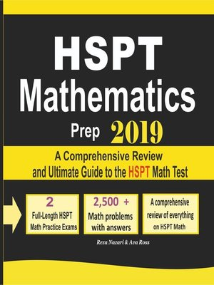 cover image of HSPT Mathematics Prep 2019