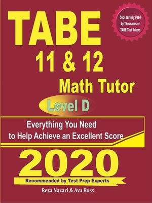 cover image of TABE 11 & 12 Math Tutor