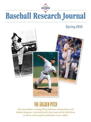 cover image of Spring 2016 Baseball Research Journal